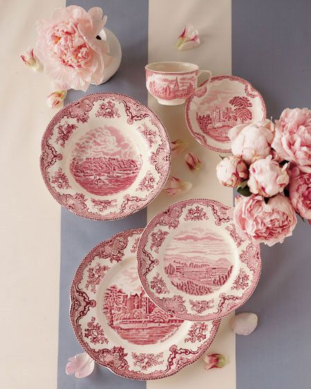 "Just added these to my dishes--but mine are probably ""Made in China"" and not ""Vintage"" white n red dishes."