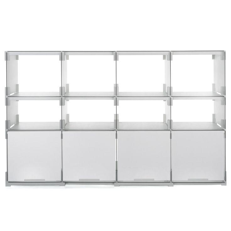Kaether & Weise Plattenbau, weiß - Frontklappe 62cm, Fachhöhe: 15cm Weiß H:15 B:62