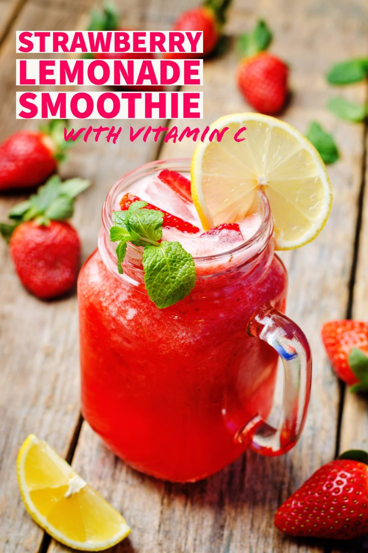 Want to be the best version of yourself? Load up on vitamin C and other body-loving nutrients to get you going, like the ones in this strawberry lemonade smoothie recipe.