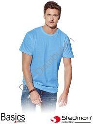 Jasnoniebieski t-shirt męski STEDMAN ST2000_NAV