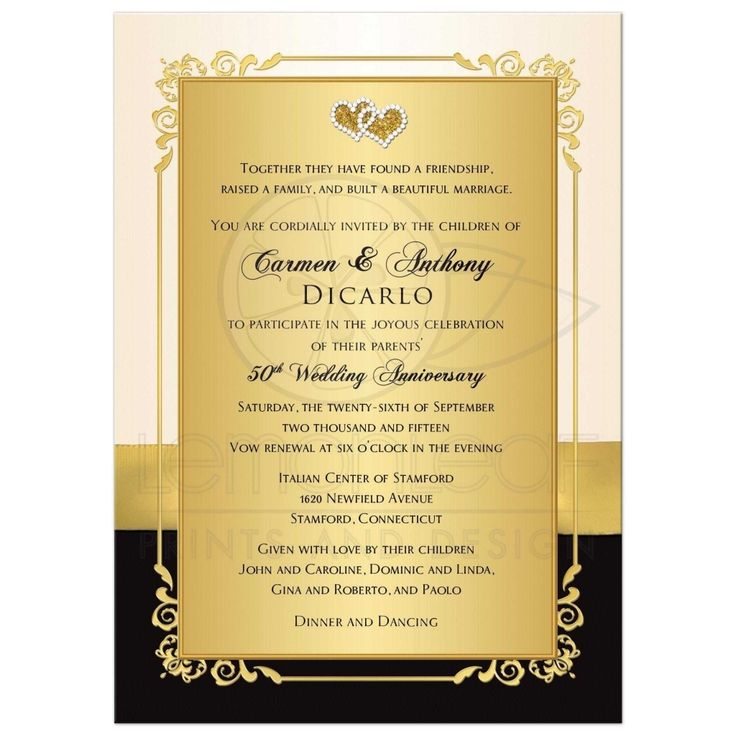 50th wedding anniversary invitation wording Check more