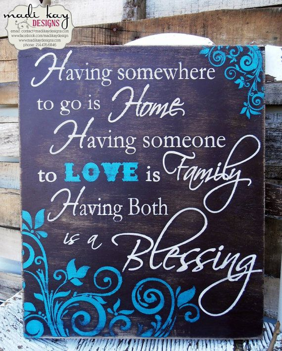 Love these signs!! Having Family is a Blessing,Family Sign,Friendship Sign, Vintage Sign, Rustic Sign, Family Sign 10x12 - distressed on Etsy, $54.99