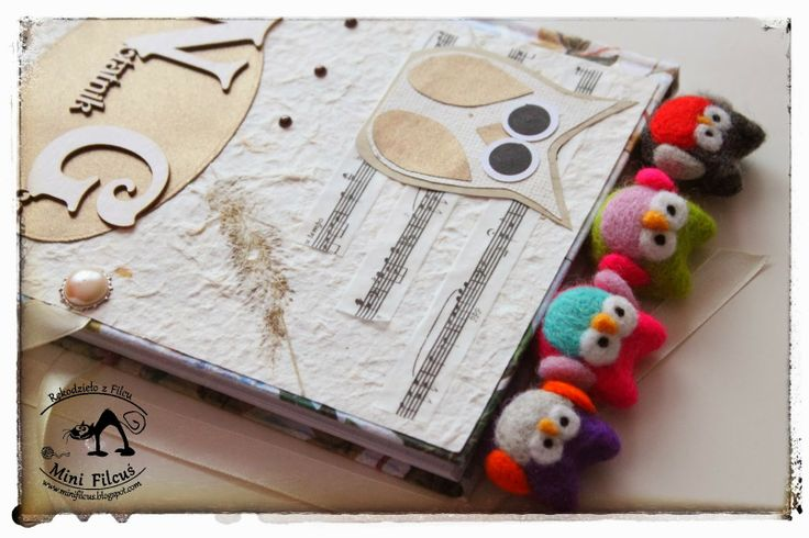 Owl - felted clip http://minifilcus.blogspot.com/2014/02/spinacze-z-filcu-sowki.html