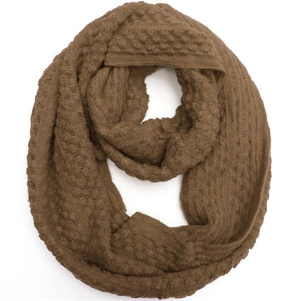 Women Knitting Wool Double Circle Neck Scraves Corn Grain Scraves