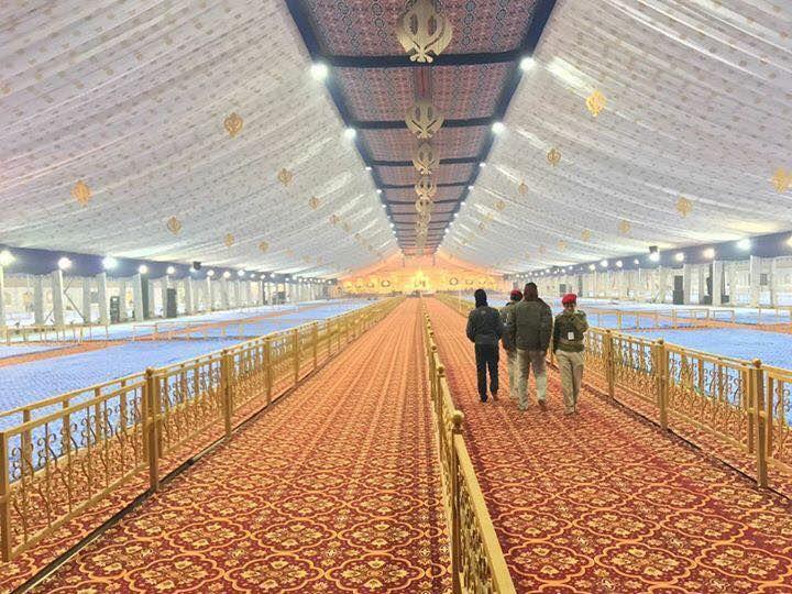 View of darbar hall where the occasion of 350th birth anniversary of Sri Guru Gobind Singh ji Share & Spread!