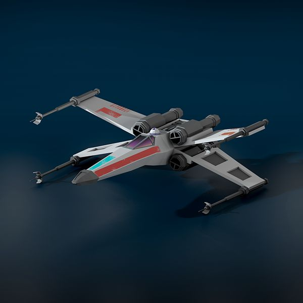 Low Poly X-Wing render