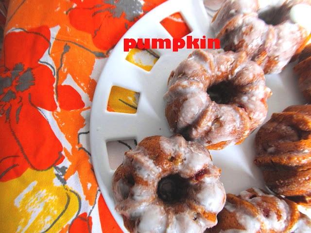 Pumpkin-Banana-Cranberry Mini Bundt Cakes #BundtaMonth