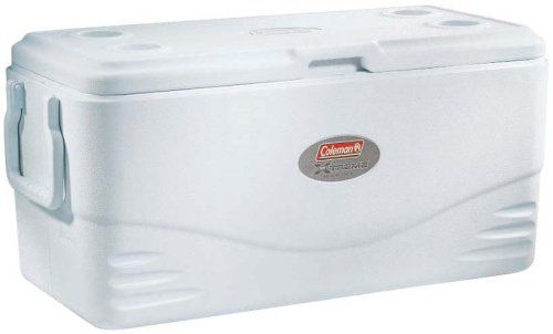 Coleman 100 Quart Xtreme 5 Marine Cooler. For product & price info go to:  https://all4hiking.com/products/coleman-100-quart-xtreme-5-marine-cooler/