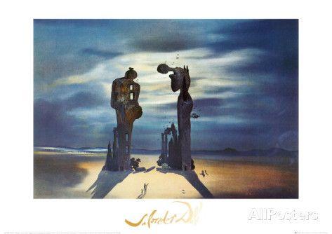 Reminescence Archeologique de l'Angelus de Millet, 1935 Poster by Salvador Dalí at AllPosters.com