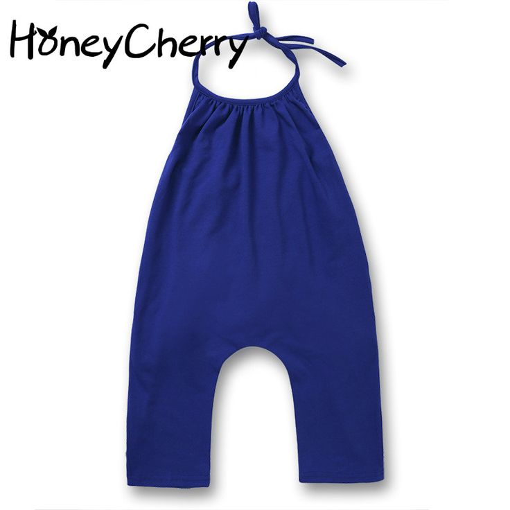 2017 new baby girl suspenders solid color casual pants coveralls baby clothes newborn baby boy #Affiliate