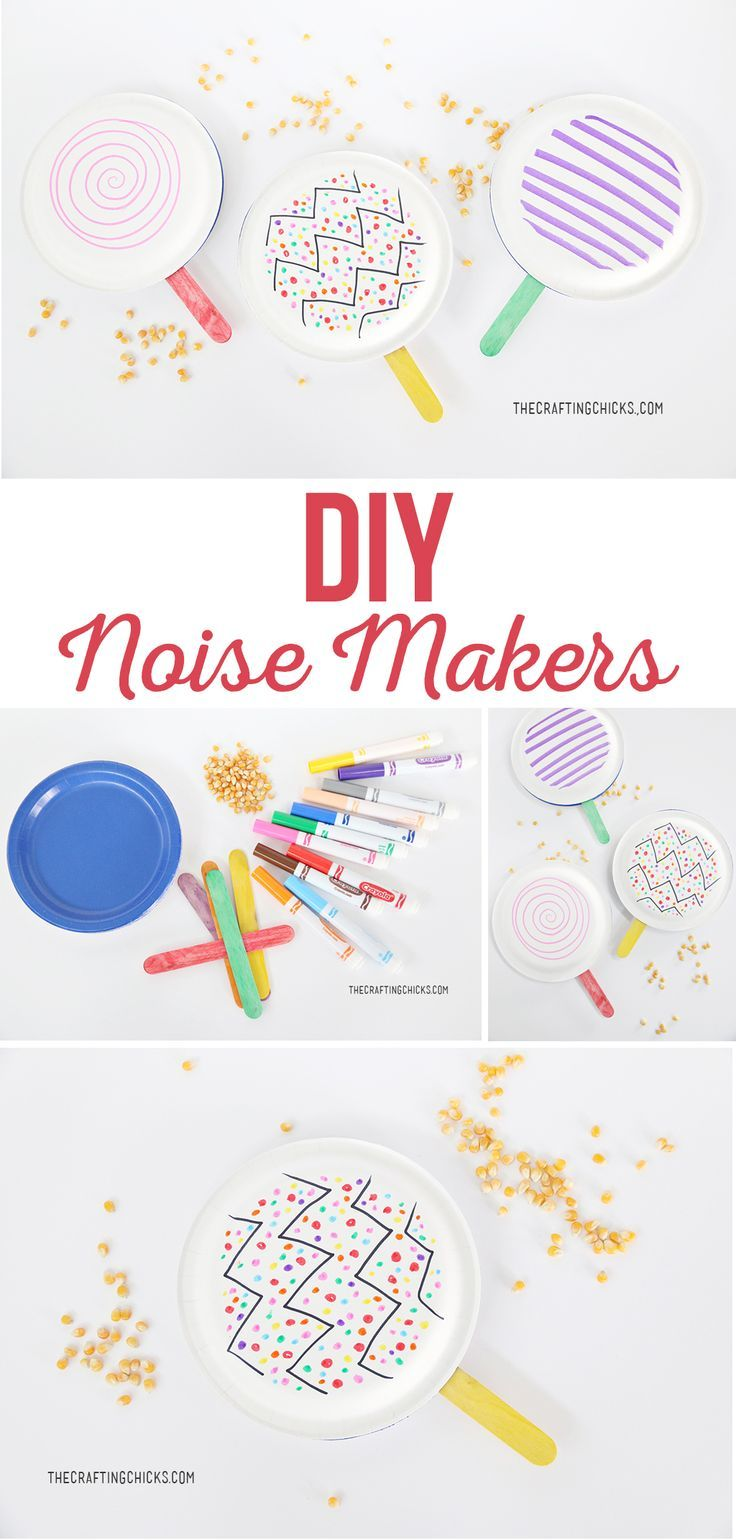 DIY Noise Makers Diy crafts for kids easy, New year's