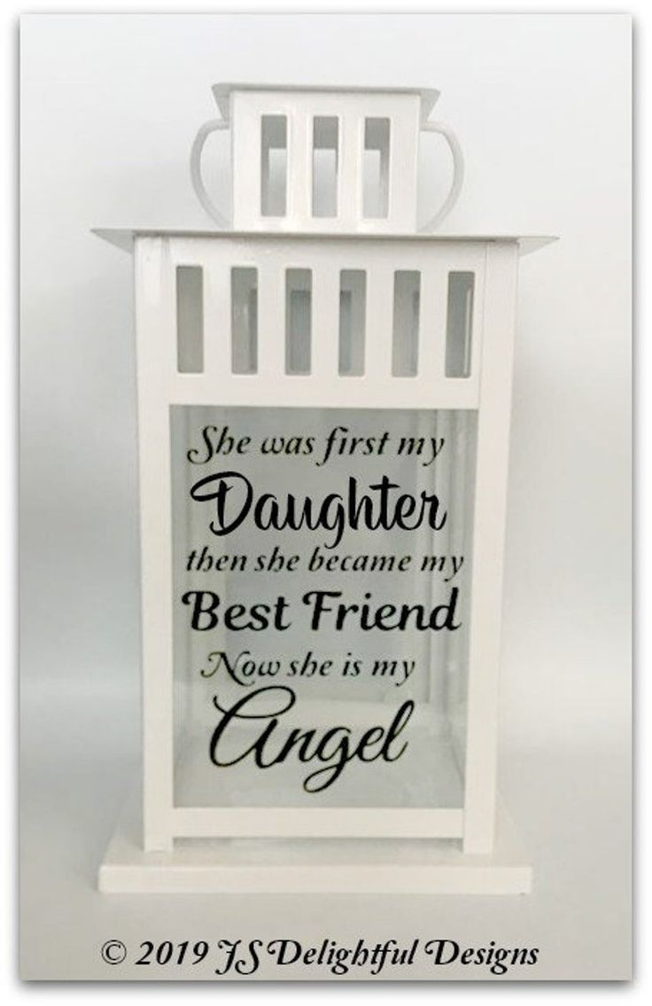 Loss of daughter loss of child sympathy gift memory