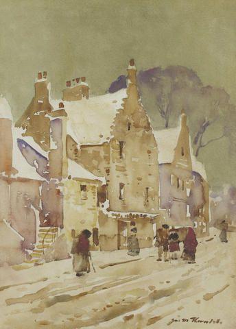 James Watterston Herald (Scottish, 1859-1914) A Forfar street