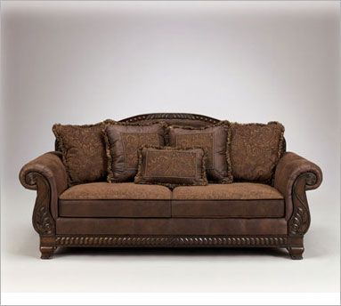 Leather And Fabric Sofa Savings