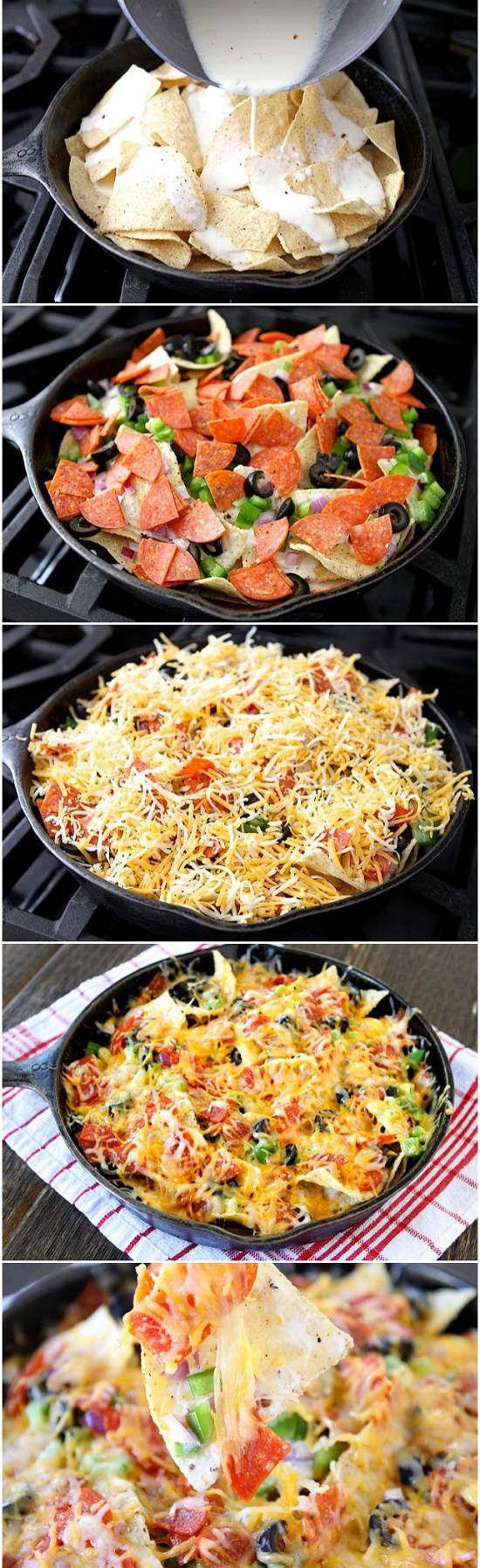Recette de pizza nachos pour le camping  Pizza Nacho's for BBQ