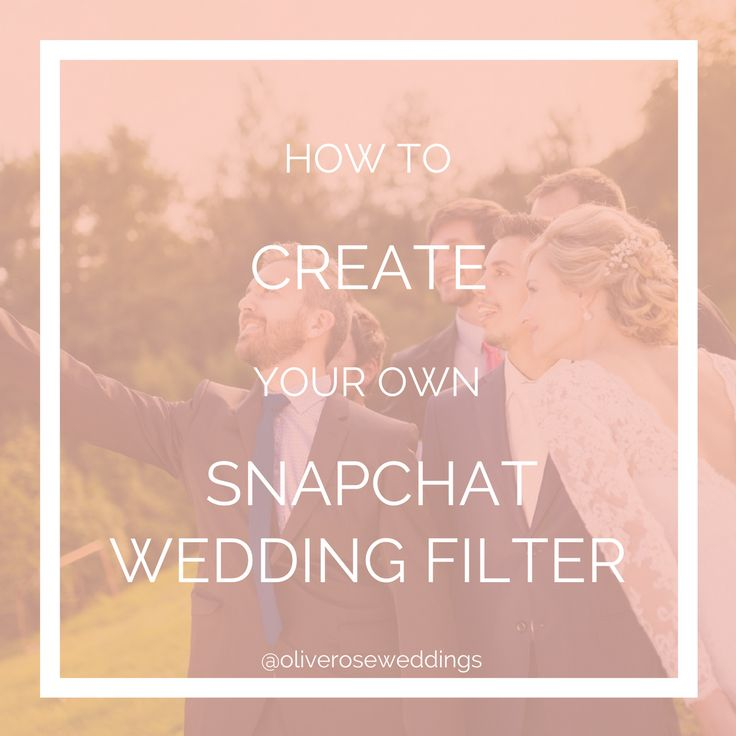 Ever wanted to create your own snapchat weddingfilter? Why not create a beautifulfilter for your guests to enjoy at your wedding.