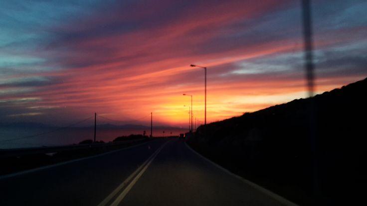 Beautiful sunset. Sunrise sky!