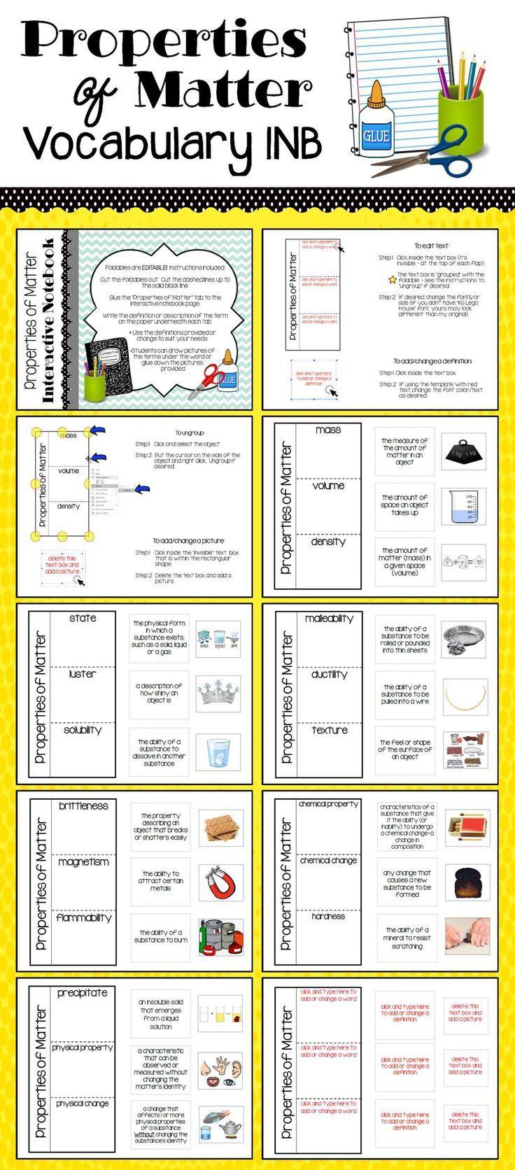 Properties Of Matter Vocabulary Interactive Notebook Activity Matter Vocabulary Vocabulary Interactive Notebook Interactive Notebooks [ 1672 x 736 Pixel ]
