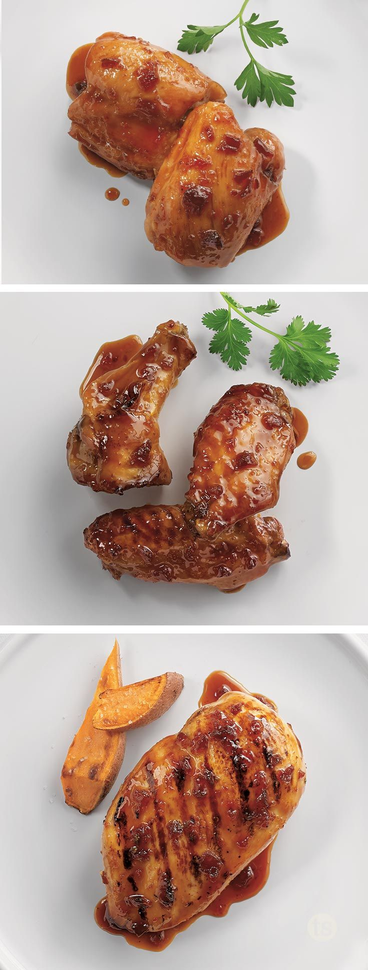 Spicy Bayou Bourbon Glazed Wings Recipe — Dishmaps