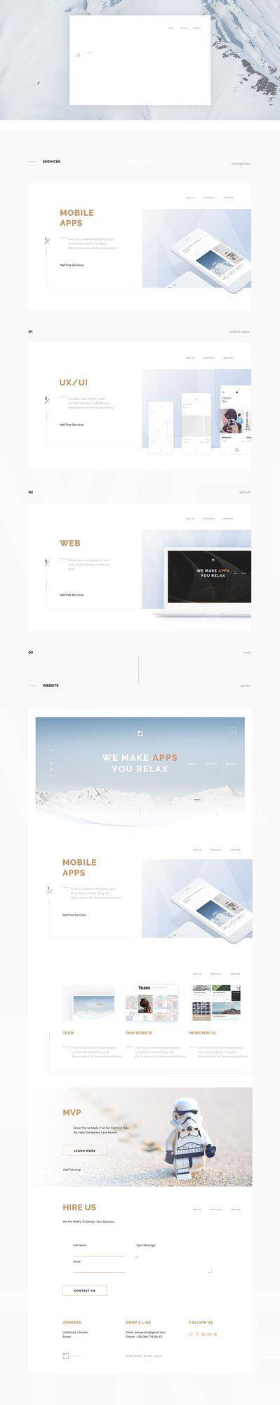 Walltree Development Company Agency Website - Behance #ui #ux #userexperience #website #webdesign #design #minimal #minimalism #art