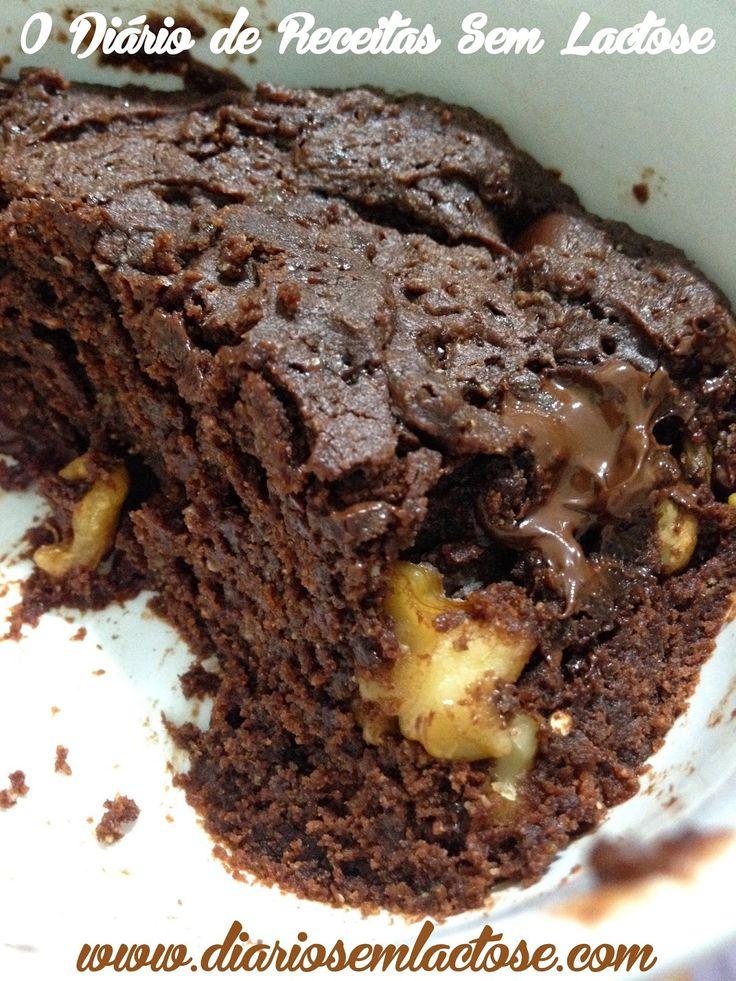 O Diário de Receitas Sem Lactose: Brownie de Caneca Sem Glúten, Sem Lactose, Sem Ovo...