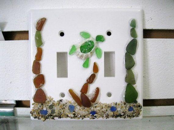 Decorative Light Switch Plate Cover Sea by BlueMermaidofRincon