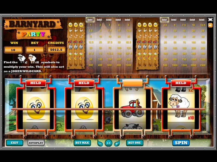 Buy Video Slot game for Online Casino - Barnyard Party MultiSpin Slots Classic Slot Game