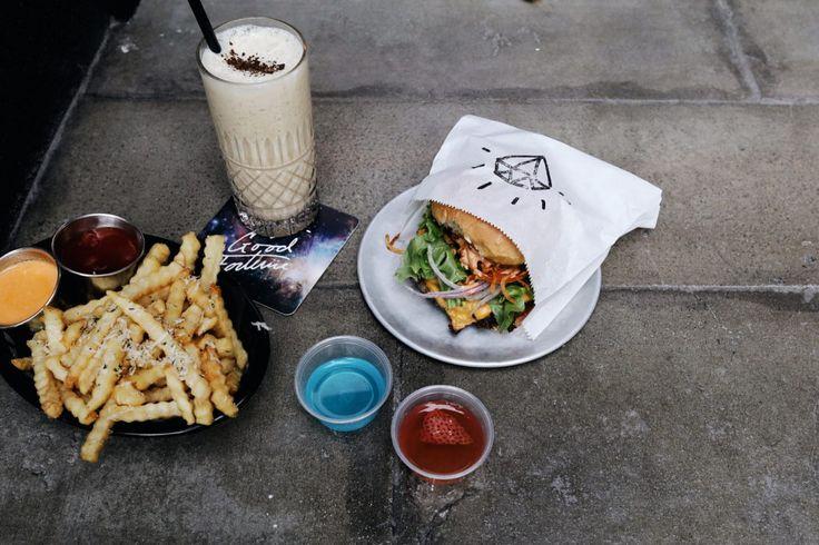 Good Fortune Bar: Fortune Burger, Crinkle Cut Fries, Salted Caramel Milkshake, Jello Shots
