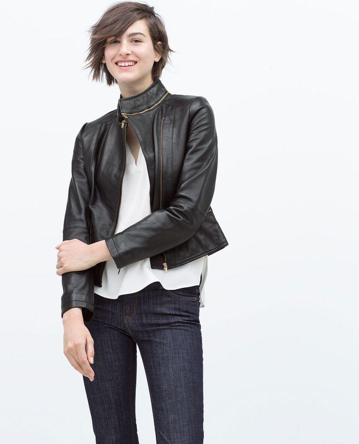 LEATHER TAILORED JACKET-Jackets-WOMAN | ZARA United States