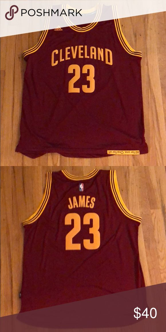 Authentic LeBron James basketball jersey. Lightly used LeBron James Cleveland Cavaliers basketball jersey. Accepting offers. adidas Shirts Tees - Short Sleeve
