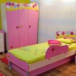 Accessories & furniture,Amusing Cheap Bedroom Set For Kids Feat Cheap Bedroom Red Color Polka Dot Rug And Cheap Bedroom Vanity Dresser With Cheap Bedroom Wardrobe Combine Cheap Bed With Storage And Cheap Pink Bedside Table Feat Bell Floral Pattern Shade Table Lamp With Blue Stripe Pattern Wallpaper Combine Laminated Wood Flooring, #CheapBedroomSets