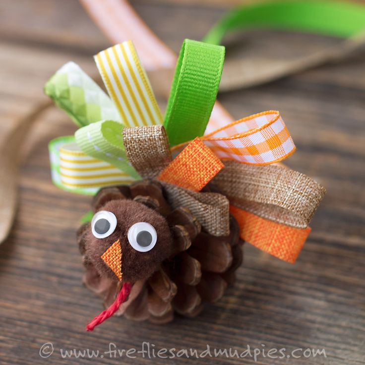 Pinecone Turkey Craft | Fireflies and Mud Pies