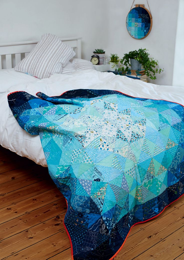 Blue Moon quilt by Susan Standen from Love Patchwork & Quilting issue 25  I love the colours in this quilt.