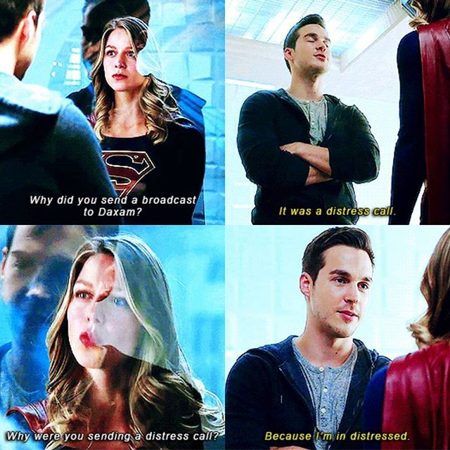 """Because I'm in distress"" - Mon-El and Kara #Supergirl"