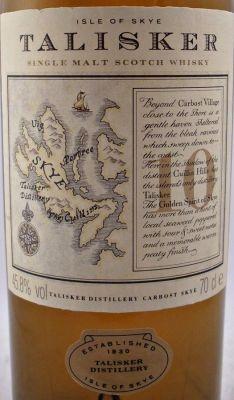 Talisker Single Malt Whisky Map bottle - Rare Whisky - Collectors Whisky - Talisker Scotch Whisky 10 year old Map bottle 45.8% 70cl - The Specialist Whisky Shop - Whisky, Single Malt, Vintage, Scotch, World, American Whiskey, Liqueurs | whiskys.co.uk