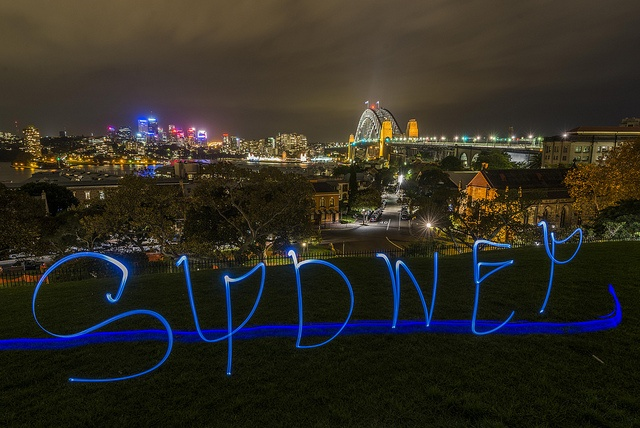 Sydney at night by Keith McInnes Photography, via Flickr