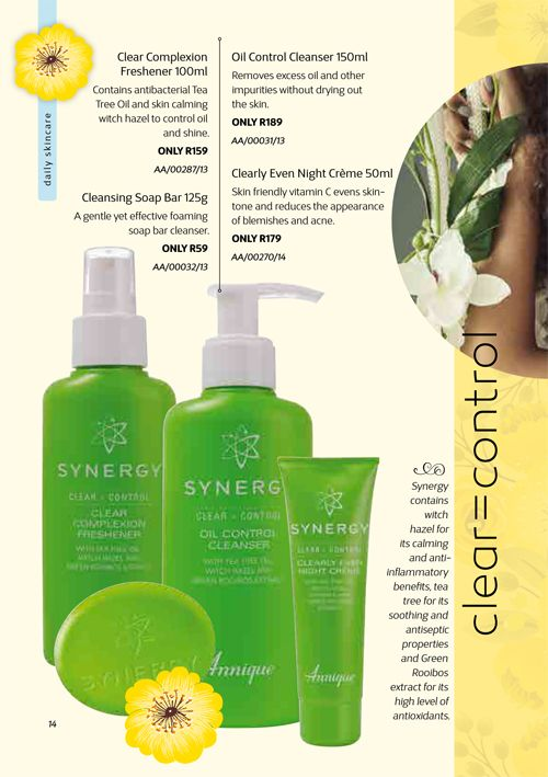 Annique Synergy - Clear Control Range for Oily Skin. Annique Health & Beauty November 2017 Beaute.