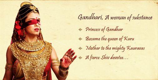 mahabharata gandhari's character