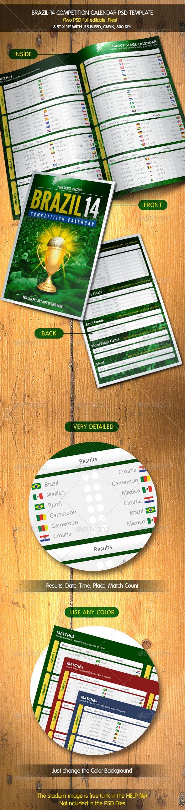Brazil 14 Calendar | Match Schedule