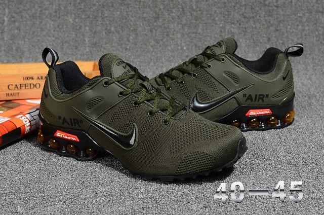 ef69847e094 Perfect Nike Air Shox Flyknit Olive Green Black Shox Nz Mens Running ...