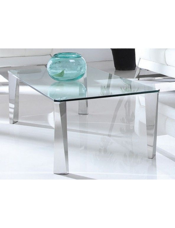 table basse transparentes verre