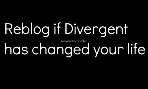 As cheesy as it sounds, yes it has. anyone remember when divergent was our imperial affliction?? no knew out little secret ahaha