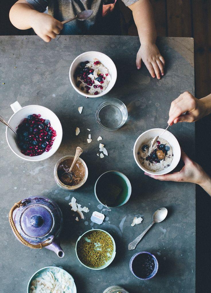 Raw buckwheat porridge via Green Kitchen Stories