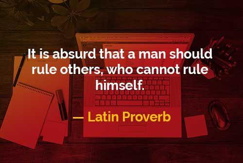 Memerintah Orang Lain yang Tidak Dapat Mengendalikan Dirinya Sendiri
