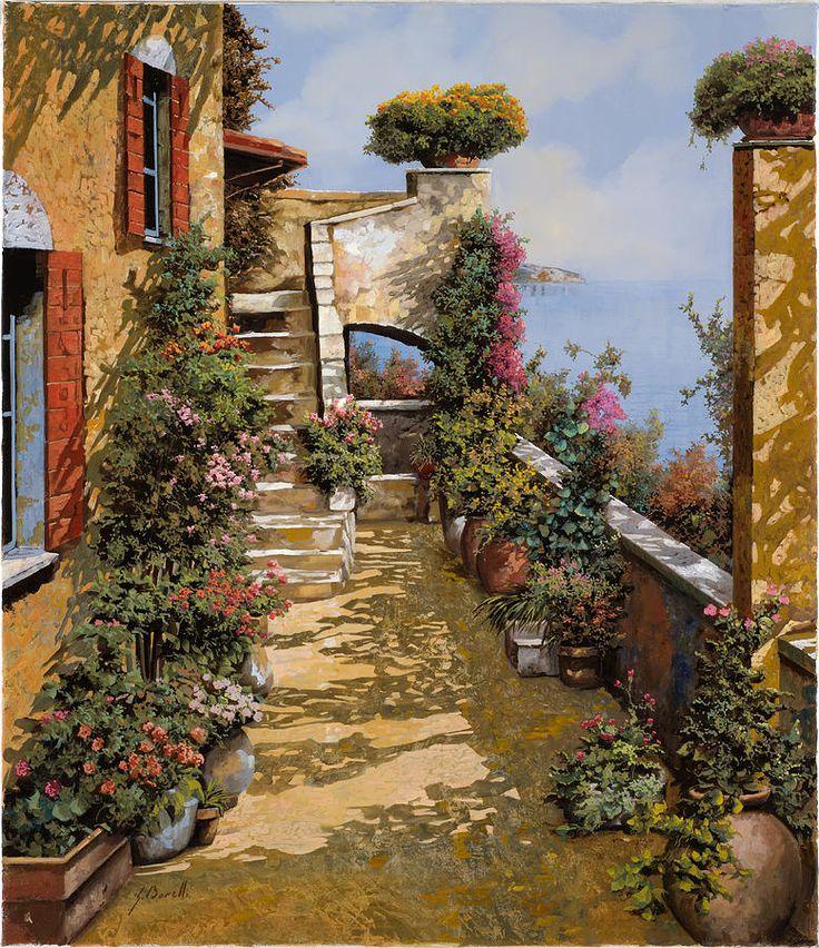 Bello Terrazzo by Guido Borelli - Bello Terrazzo Painting - Bello Terrazzo Fine Art Prints and Posters for Sale
