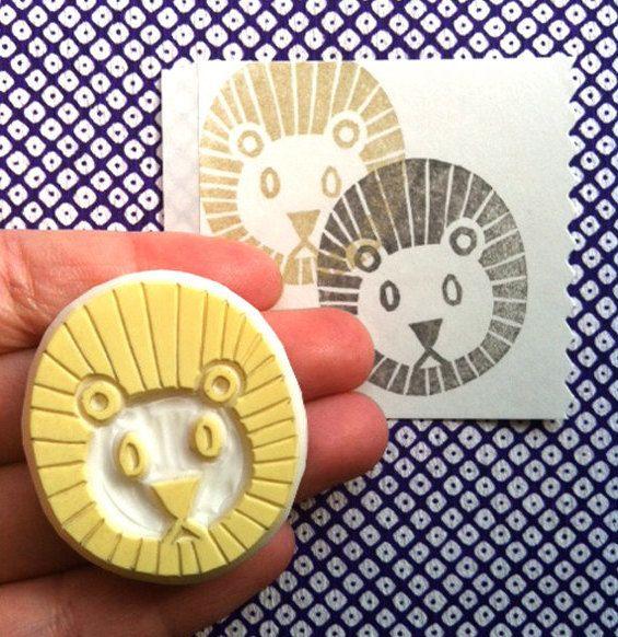 Talk to the Sun, sellos para estampar hechos a mano http://www.minimoda.es