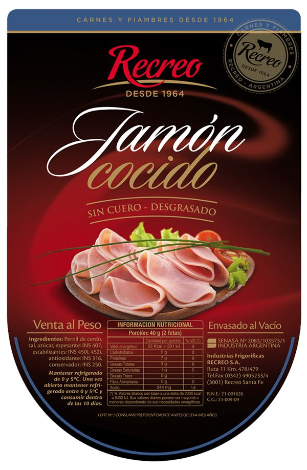 Recreo Hams packaging line on Behance