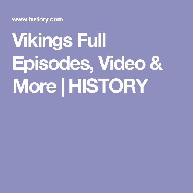 Vikings Full Episodes, Video & More | HISTORY