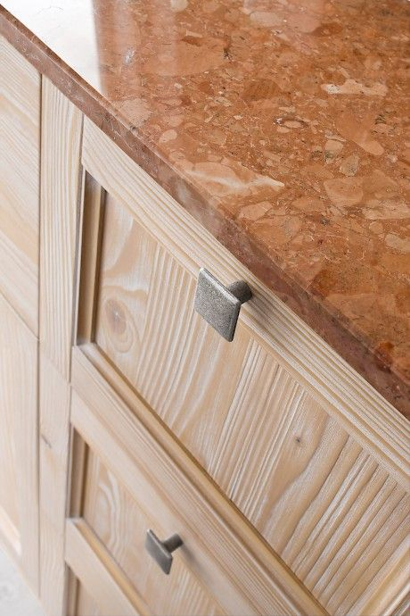 DIAMANTE DM9   Compab. Structure 251 natural spruce. Doors 251 natural spruce. Marble top rosso asiago.