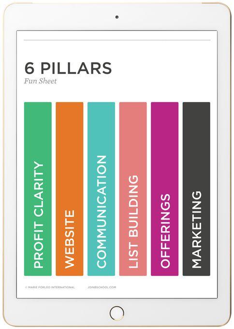 Marie Forleo B-School 6 Pillars